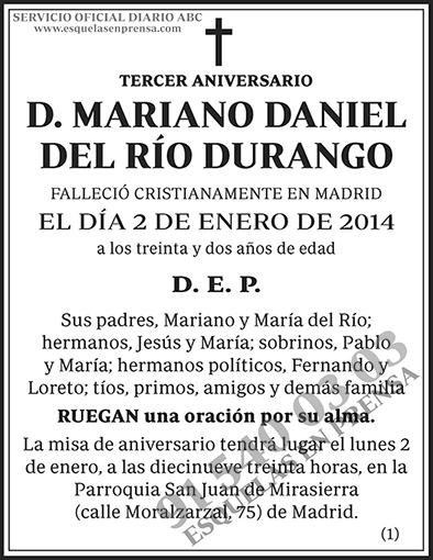 Mariano Daniel de Río Durango